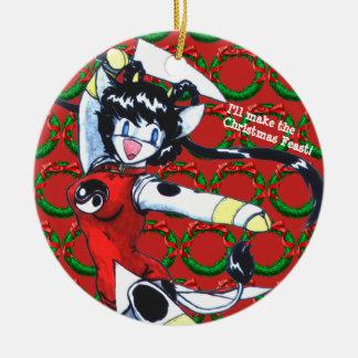 Kyau & the Wreaths Ceramic Ornament