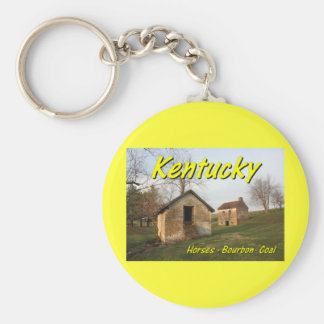 KYCA106.Old Farm - Woodford Co Ky. Basic Round Button Keychain