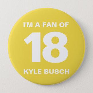 Kyle Busch Fan Button | 4 IN. Button