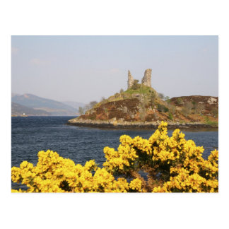 Kyleakin, Scotland. The ancient ruins of 2 Postcard