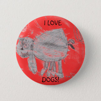 Kylee's picture, I LOVE, DOGS! 2 Inch Round Button