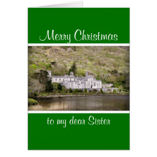 Kylemore Abbey Castle in Ireland Christmas Card