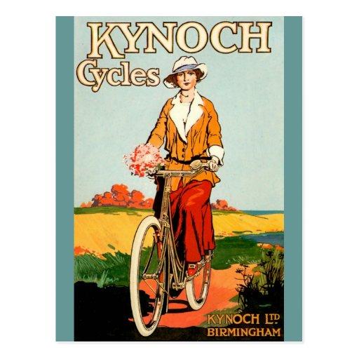 Kynoch Cycyles - Vintage Bicycle Poster Art Postcard