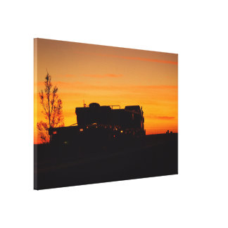 Kynuna sunrise truck silhouette canvas print