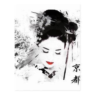 Kyoto Geisha Postcard