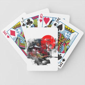 Kyoto Japan Abstract Poker Deck