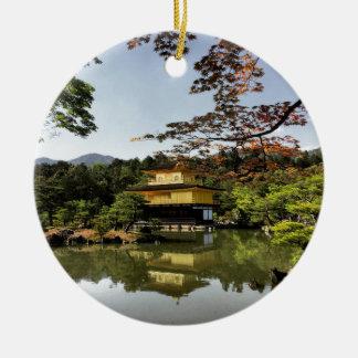 Kyoto Japan Goldentemple Temple Kinkaku-Ji Ceramic Ornament