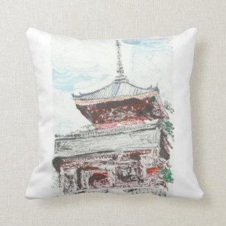 Kyoto Japan Temple Pillow Home Decor
