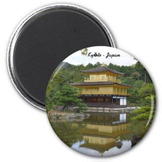 Kyōto Kyoto - Japan golden pavilion Kinkaku ji 2 Inch Round Magnet
