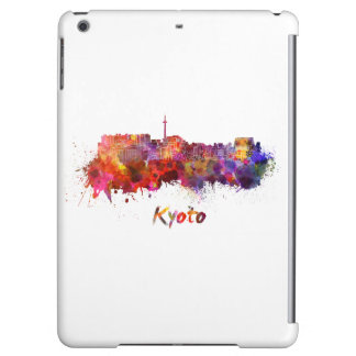 Kyoto skyline in watercolor iPad air cover