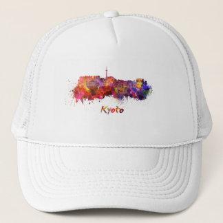 Kyoto skyline in watercolor trucker hat