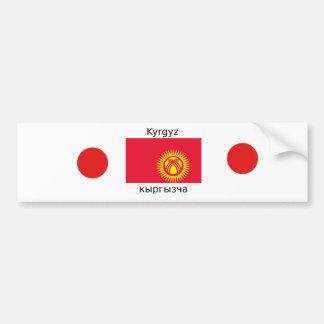Kyrgyz Language And Kyrgyzstan Flag Design Bumper Sticker