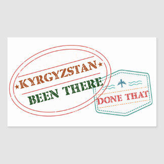 Kyrgyzstan Been There Done That Sticker