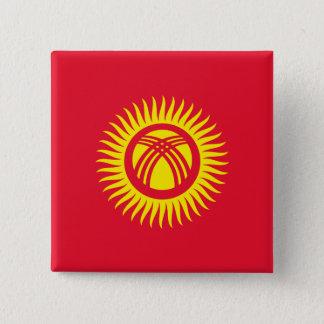 Kyrgyzstan Flag 2 Inch Square Button