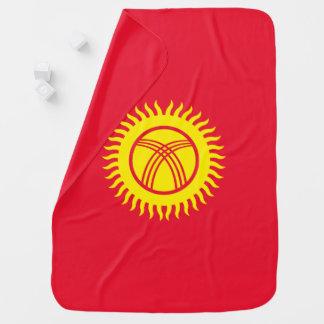 Kyrgyzstan Flag Baby Blanket