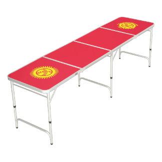 Kyrgyzstan Flag Beer Pong Table