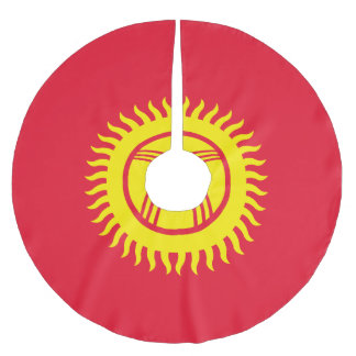 Kyrgyzstan Flag Brushed Polyester Tree Skirt