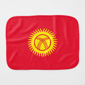 Kyrgyzstan Flag Burp Cloth
