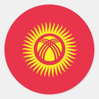 Kyrgyzstan Flag Classic Round Sticker