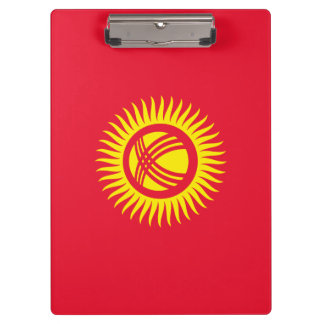 Kyrgyzstan Flag Clipboard