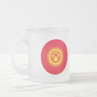 Kyrgyzstan Flag Frosted Glass Coffee Mug