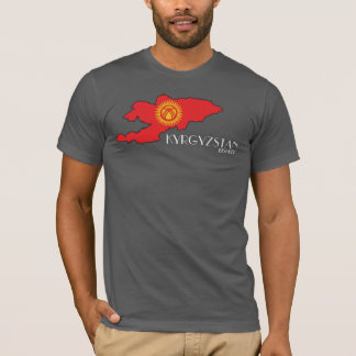 Kyrgyzstan Flag Map Shirt
