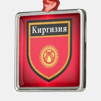 Kyrgyzstan Flag Metal Ornament