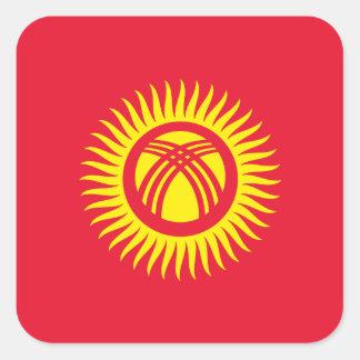 Kyrgyzstan Flag Square Sticker