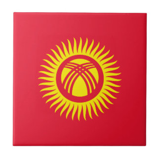 Kyrgyzstan Flag Tile