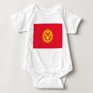 Kyrgyzstan National World Flag Baby Bodysuit