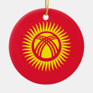 Kyrgyzstan National World Flag Ceramic Ornament