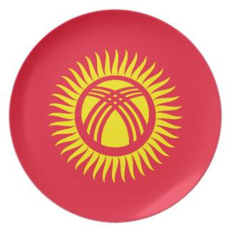 Kyrgyzstan National World Flag Plate