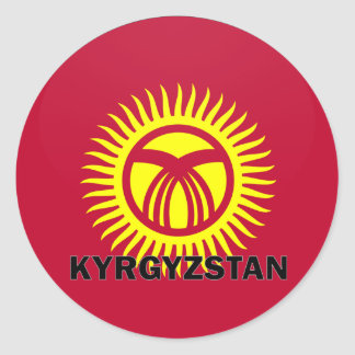 Kyrgyzstan Roundel quality Flag Classic Round Sticker