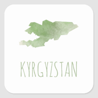 Kyrgyzstan Square Sticker
