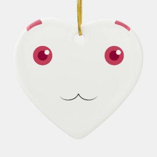 Kyubey's Gaze Ceramic Heart Ornament