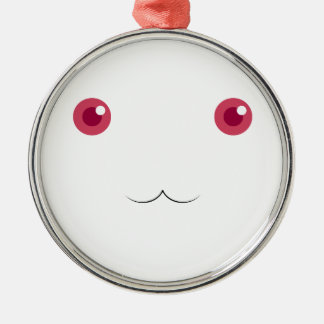 Kyubey's Gaze Silver-Colored Round Ornament