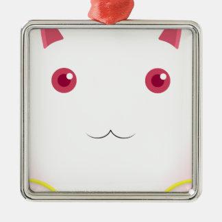 Kyubey's Gaze Silver-Colored Square Ornament
