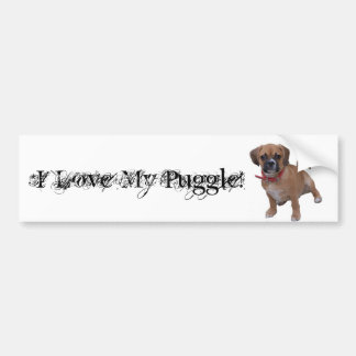 l1, I Love My Puggle! Bumper Sticker