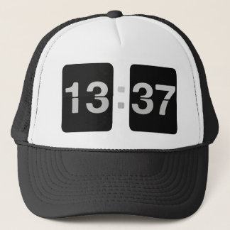 L33T Clock 13:37 Trucker Hat
