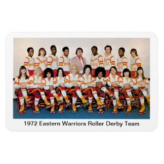 L: 1972 Eastern Warriors Roller Derby Team Rectangular Photo Magnet