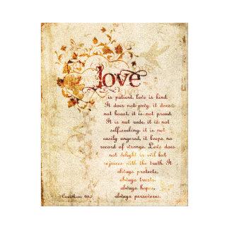 L amour de KRW est art patient de citation de bibl Impression Sur Toile