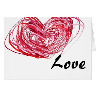 L amour élève une carte de voeux plus profonde