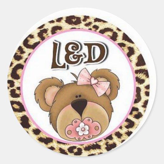 l & d nurse - labour and delivery classic round sticker
