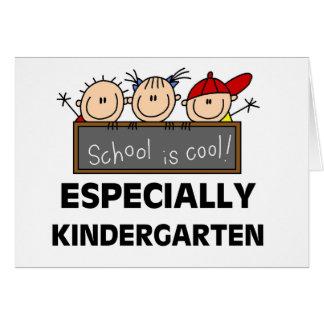 L école de jardin d enfants est fraîche carte