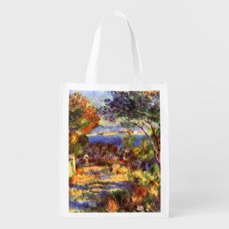 L Estaque by Renoir Vintage Impressionism Art Reusable Grocery Bag