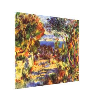 L Estaque par Renoir art vintage d impressionisme Toile Tendue Sur Châssis