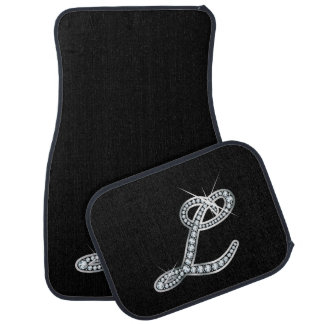 "L Faux-""Diamond Bling"" Car Mat"