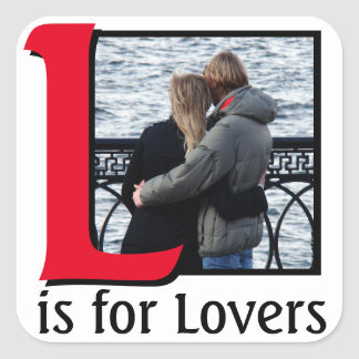 L for Lovers Square Sticker