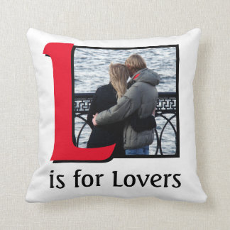 L for Lovers Throw Pillow