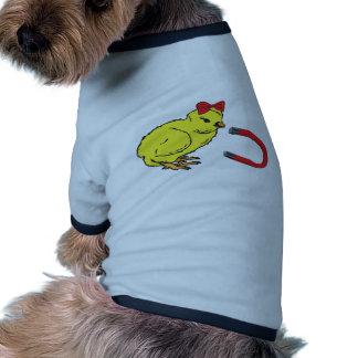 L homme de la dame drôle d aimant de poussin manteau pour chien